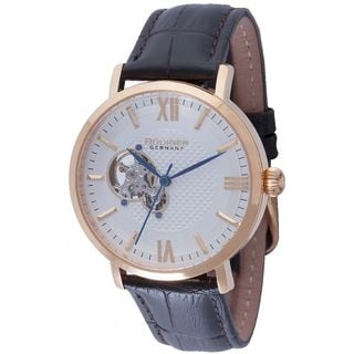Rudiger Mens Stuttgart Leather Calfskin Brown Watch