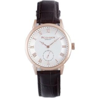 Rudiger Mens Leipzig Calfskin Brown Watch