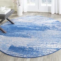 Safavieh Adirondack Modern Abstract Silver/ Blue Rug - 8' Round
