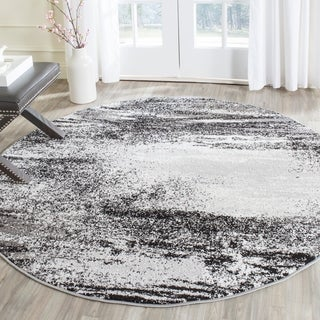 Safavieh Adirondack Modern Abstract Silver/ Multi Rug (4' Round)