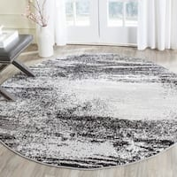 Safavieh Adirondack Modern Abstract Silver/ Multicolored Rug - 4' Round