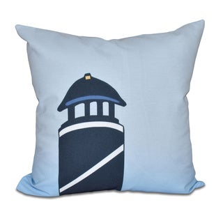 Safe Harbor (navy one) Geometric Print 18 x 18-inch Outdoor Pillow