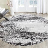 Safavieh Adirondack Modern Abstract Silver/ Multicolored Rug - 8' Round