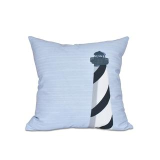 Light House Geometric Print 18 x 18-inch Outdoor Pillow