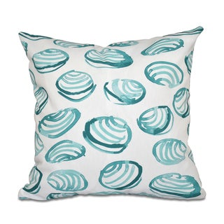 Clams Geometric Print 18 x 18-inch Outdoor Pillow