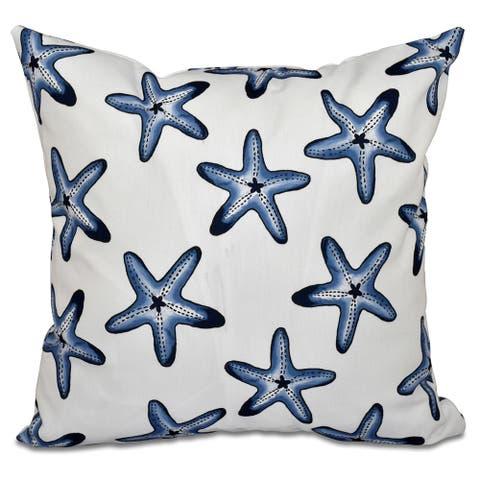 Soft Starfish Geometric Print 18 x 18-inch Outdoor Pillow