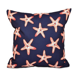 Soft Starfish Geometric Print 18 x 18-inch Outdoor Pillow