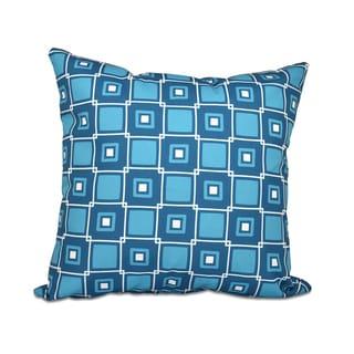 Square Pop Geometric Print 18 x 18-inch Outdoor Pillow
