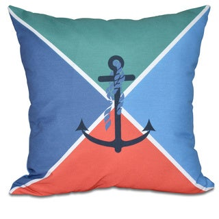 Anchor Flag Geometric Print 18 x 18-inch Outdoor Pillow