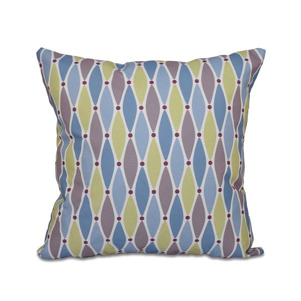 Wavy Splash Geometric Print 18 x 18-inch Outdoor Pillow