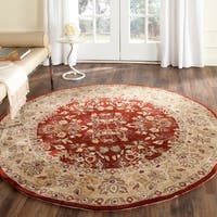 Safavieh Hand-hooked Total Perform Rust/ Green Acrylic Rug - 6' Round