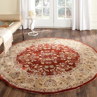 Safavieh Hand-hooked Total Perform Rust/ Green Acrylic Rug (8' Round)