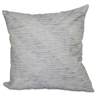 Marled Knit Stripe Geometric Print 18 x 18-inch Outdoor Pillow