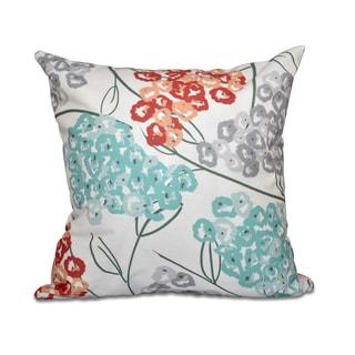Hydrangeas Floral Print 18 x 18-inch Outdoor Pillow