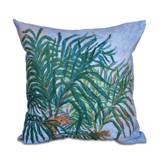 Palms Floral Print 18 x 18-inch Outdoor Pillow