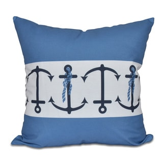 Anchor Stripe Stripe Print 18 x 18-inch Outdoor Pillow