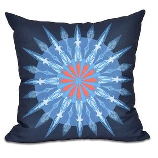 Sea Wheel Geometric Print 18 x 18-inch Outdoor Pillow