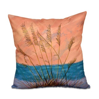 Happy Place Floral Print 18 x 18-inch Outdoor Pillow