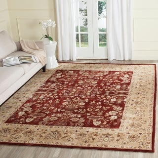 Safavieh Hand-hooked Total Perform Brown/ Green Acrylic Rug (6' Round)