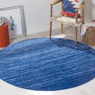 Safavieh Adirondack Vintage Ombre Light Blue/ Dark Blue Rug (8' Round)
