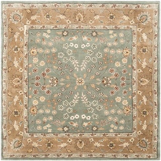 Safavieh Hand-hooked Total Perform Sage/ Copper Acrylic Rug (6' Square)