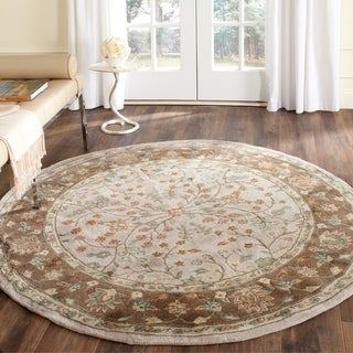 Safavieh Hand-hooked Ivory/ Taupe Acrylic 6 Foot Round Rug