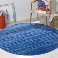 Safavieh Adirondack Vera Ombre Light Blue/ Dark Blue Rug - 4' x 4' Round