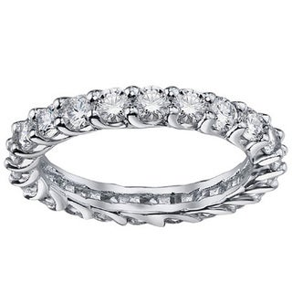 Platinum 1.7 - 2 1/10ct TDW Diamond Braided Eternity Ring (G-H, SI1-SI2)