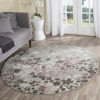 Safavieh Adirondack Vintage Floral Light Grey / Purple Rug - 8' Round