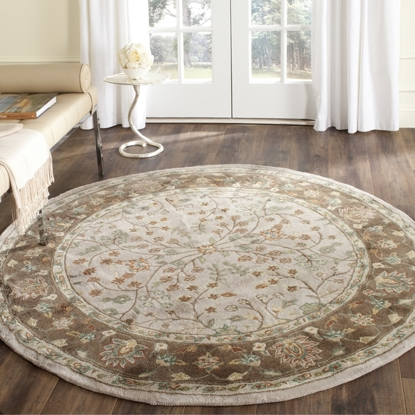 Rugs At Home Goods: Safavieh Hand-hooked Total Perform Ivory/ Taupe Acrylic
