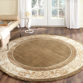 Safavieh Hand-hooked Total Perform Olive/ Ivory Acrylic Rug (6' Round)