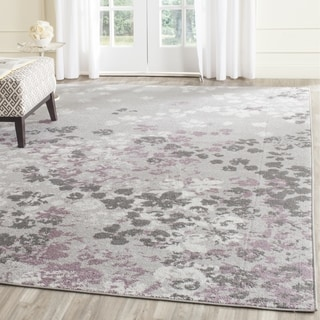 Safavieh Adirondack Light Grey/ Purple Rug (8' Square)