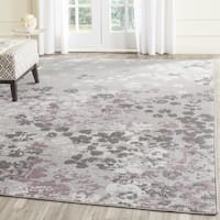 Safavieh Adirondack Vintage Floral Light Grey / Purple Rug - 8' Square