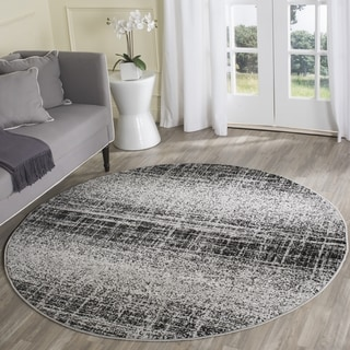 Safavieh Adirondack Modern Abstract Silver/ Black Rug (4' Round)
