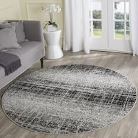 Safavieh Adirondack Modern Abstract Silver/ Black Rug - 4' Round