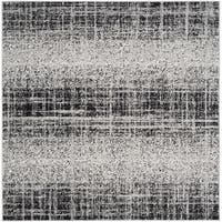 Safavieh Adirondack Modern Abstract Silver/ Black Rug - 4' Square