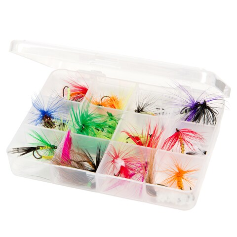Wakeman Outdoors Assorted Dry Fly Fishing Flies - 25-piece