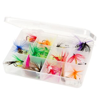 Dry Fly Fishing Lure 25 PC Kit - Essential Freshwater Hook Tackle Box Assortment by Wakeman Outdoors