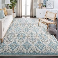 "Safavieh Evoke Vintage Ivory / Light Blue Distressed Rug - 6'7"" x 6'7"" square"