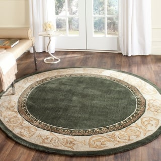 Safavieh Hand-hooked Total Perform Slate/ Ivory Acrylic Rug (8' Round)