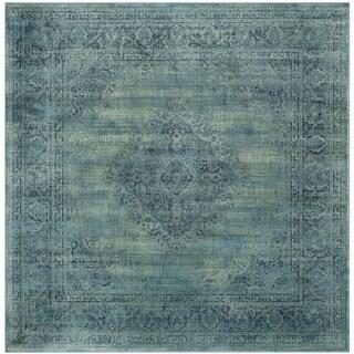 Safavieh Vintage Turquoise/ Multi 8 Foot Square Rug (8' x 8' Square)