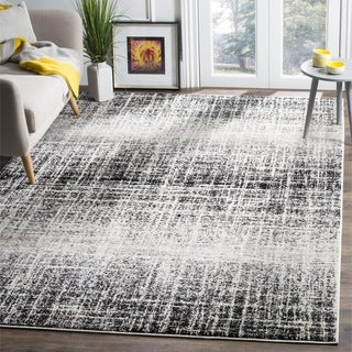 Safavieh Adirondack Modern Abstract Ivory / Silver Rug (4' Square) - 4'