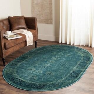 Safavieh Vintage Turquoise/ Multi Rug (5' 3 x 7' 6 Oval)