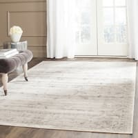 "Safavieh Vintage Oriental Light Grey/ Ivory Distressed Rug - 6'7"" x 6'7"" Square"