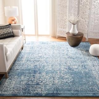 Safavieh Evoke Vintage Oriental Blue/ Ivory Distressed Rug (6' 7 Square)