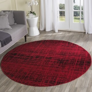 Safavieh Adirondack Modern Abstract Red/ Black Rug (4' Round)