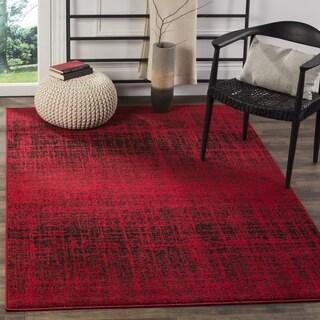 Safavieh Adirondack Modern Abstract Red/ Black Rug (4' Square)