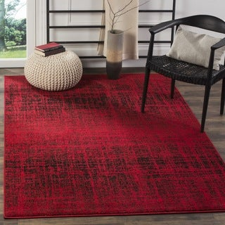 Safavieh Adirondack Modern Abstract Red/ Black Rug (6' Square)