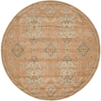 Safavieh Handmade Wyndham Terracotta Wool Rug - 5' Round