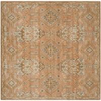 Safavieh Handmade Wyndham Terracotta Wool Rug - 5' Square